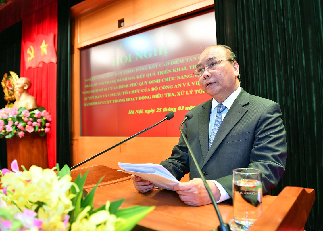 PM Nguyen Xuan Phuc speaks at the Conference