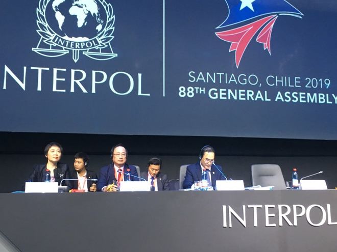 Deputy Minister of Public Security Nguyen Van Thanh attends the 88th INTERPOL General Assembly.