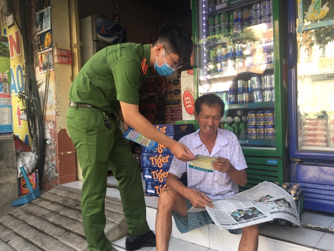 The district police go to local households to urge people to take preventive approaches.