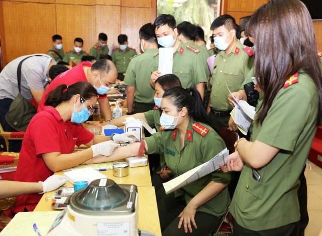 Over 200 officers and soldiers of the DFP participated in the Voluntary Blood Donation Drive.