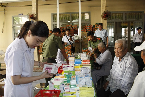 Free health checkups and medicines provided for needy people.